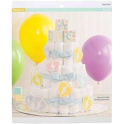 Amazon Com Simplicity Baby Shower Diaper Cake Kit 27pc Home Kitchen