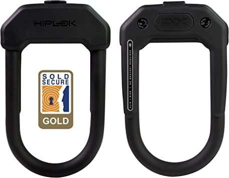 Hiplok DXC Bike Mini U Lock w// Cable Hardened Shackle Key Security Clip On Belt