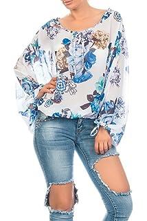 Kendindza Collection - Camisas - Túnica - Floral - Cuello redondo - para mujer
