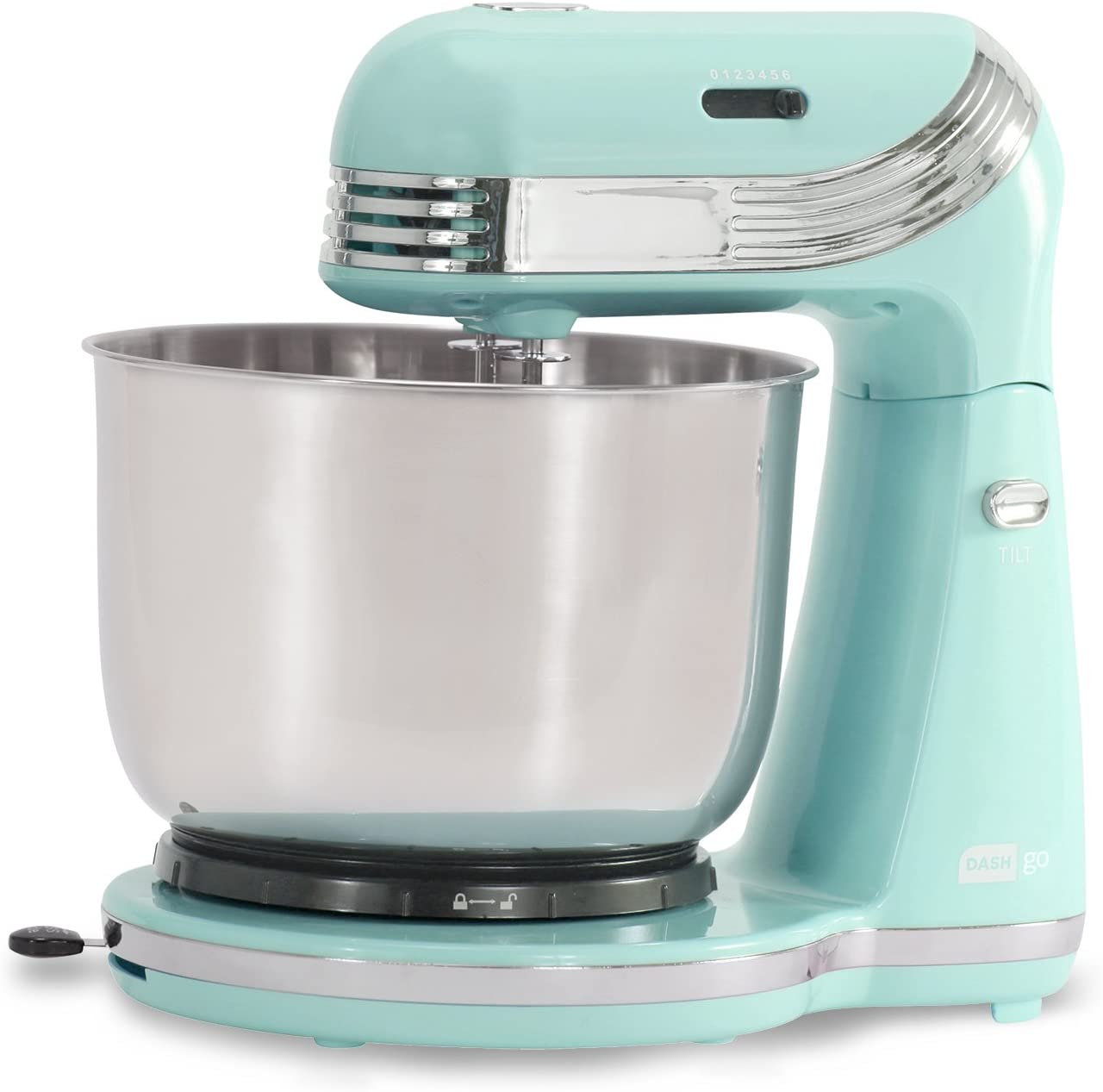 Dash Stand Mixer 6 Speed Stand Mixer with 3 qt Stainless Steel Mixing Bowl