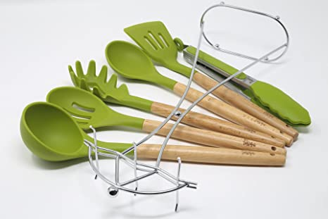 Ordinaire Betasteful Cooking Utensils Kitchen Utensil Set | 6 Wooden Silicone Kitchen  Utensils Set With Holder,
