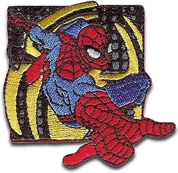 Aufnäher Bügelbild Marvel © Spiderman Comic Netz rund