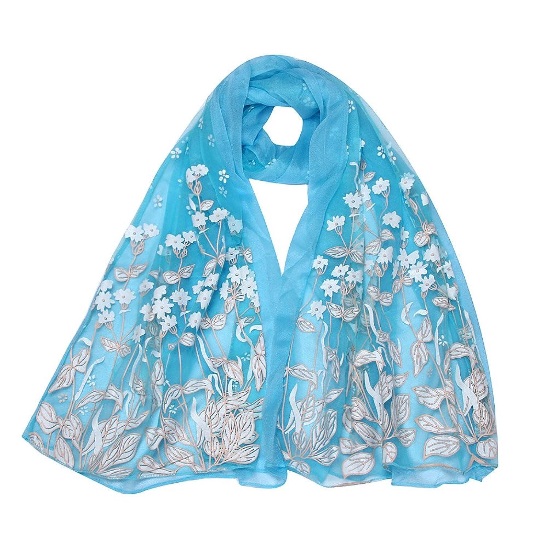 Sandistore Women Long Scarf Wrap Shawl Girls Flower Neck Circle Scarves