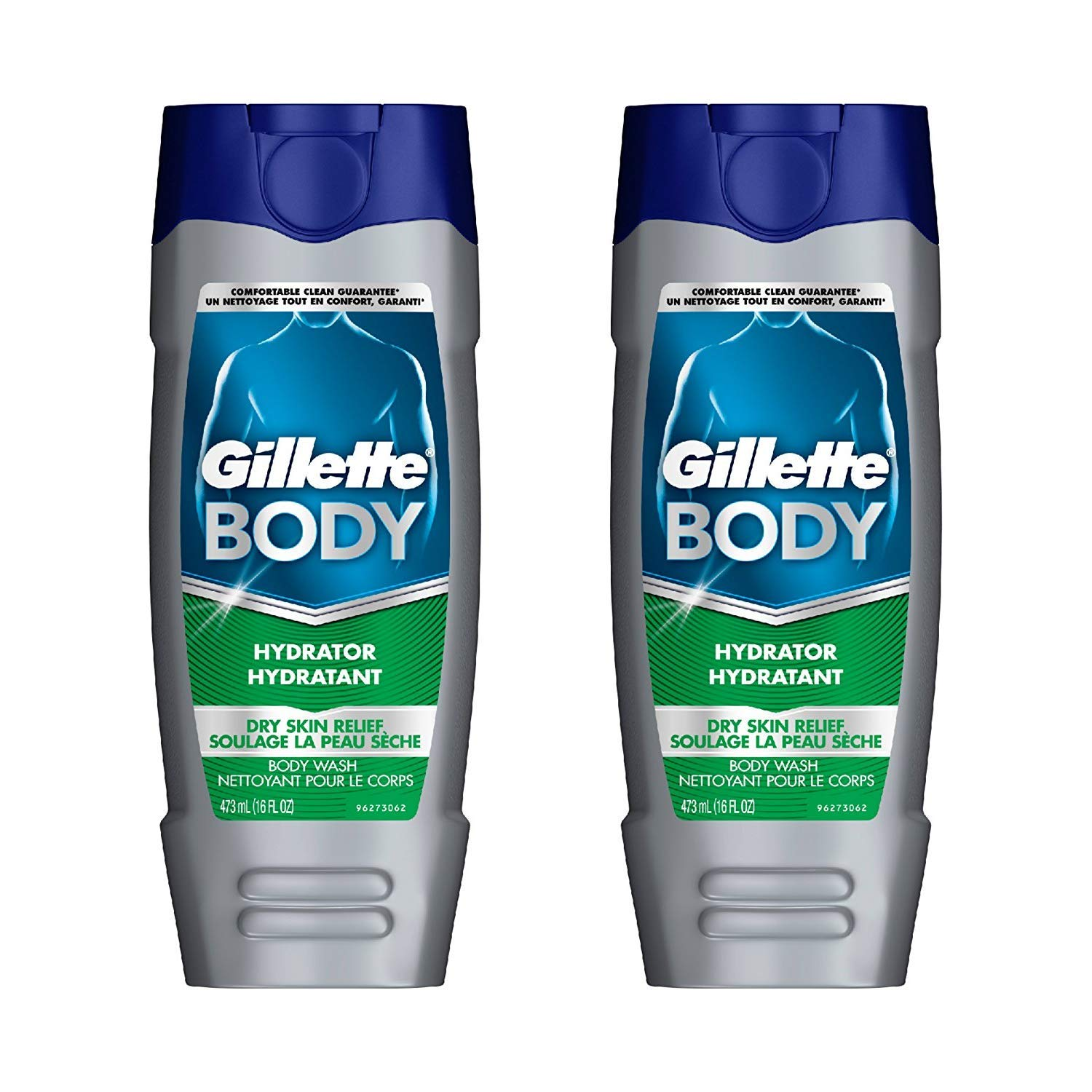 Gillette Body Hydrator Body Wash, Dry Skin Relief, 16 Fluid Ounce Pack of 6