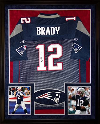 signed tom brady jersey framed