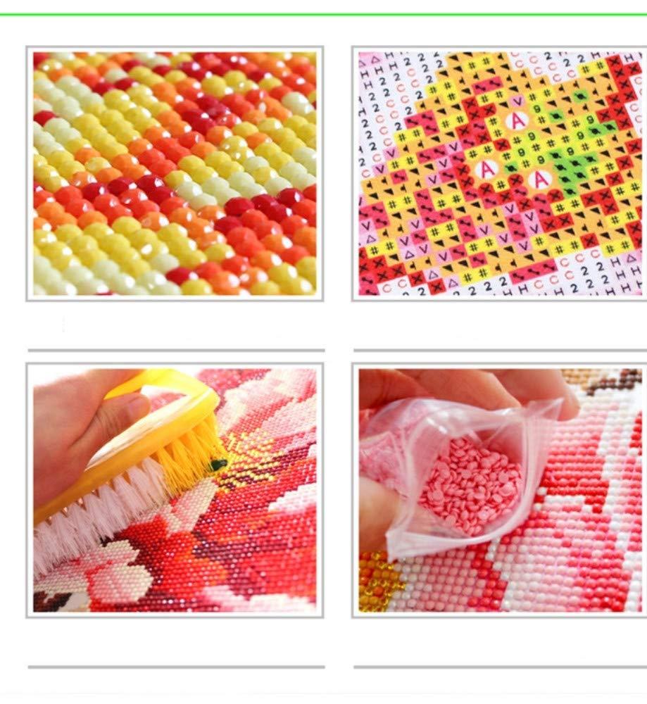 Imagen De Pedrer/ía Diamante Bordado Mujer Japonesa Mosaico De Diamantes Pintura Diamante 5D Cuadrada Completa Bordado Con Diamantes 40X50CM