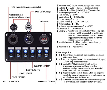 71aoQKcamYL._SX450_ wiring diagram for automotive voltmeter efcaviation com  at fashall.co