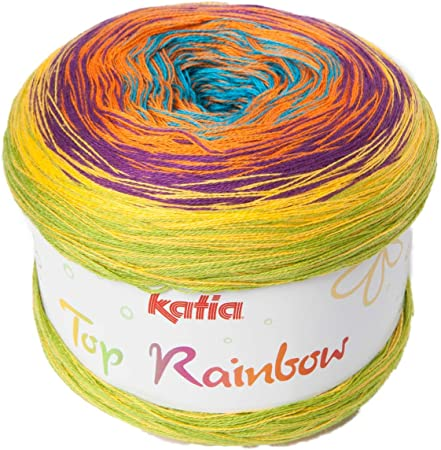 Katia Top Rainbow – Color: Vivos (87) – 200 g/aprox. 800 m de lana.: Amazon.es: Hogar