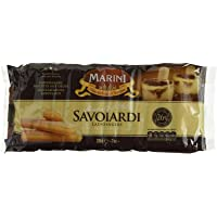 Marini Savoiardi Italian Ladyfingers Cookies 200 Grams - Biscottificio di Verona Italiani - Product of Italy - Perfect for Tiramisu