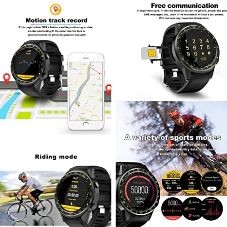 F1 Reloj Inteligente Deportivo con Soporte de cámara GPS ...