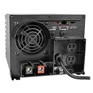 Tripp Lite Power Inverter / Charger w/ Auto Transfer Switching, 1250W, 12VDC 120V, 5-15R, 2-Outlets for RVs, Trucks, Fleet Vehicles & Emergency Vehicles(APS1250)