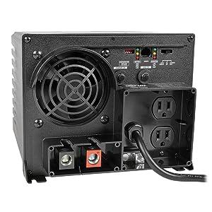 Tripp Lite APS750 Inverter / Charger 750W 12V DC to 120V AC 20A 5-15R 2 Outlet