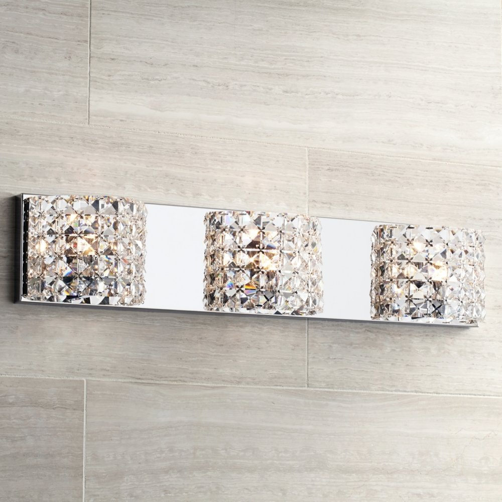 Cesenna 3 light 25 12 wide crystal bath light vanity lighting cesenna 3 light 25 12 wide crystal bath light vanity lighting fixtures amazon mozeypictures