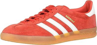 Por ley calidad Ocupar  adidas Gazelle Indoor, Zapatillas para Hombre, Rojo (Active Red/FTWR  White/Gum 3 10013972), 44 2/3 EU: Amazon.es: Zapatos y complementos
