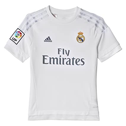 online retailer b64ea 4886e Amazon.com : adidas Youth Real Madrid Home Replica Soccer ...