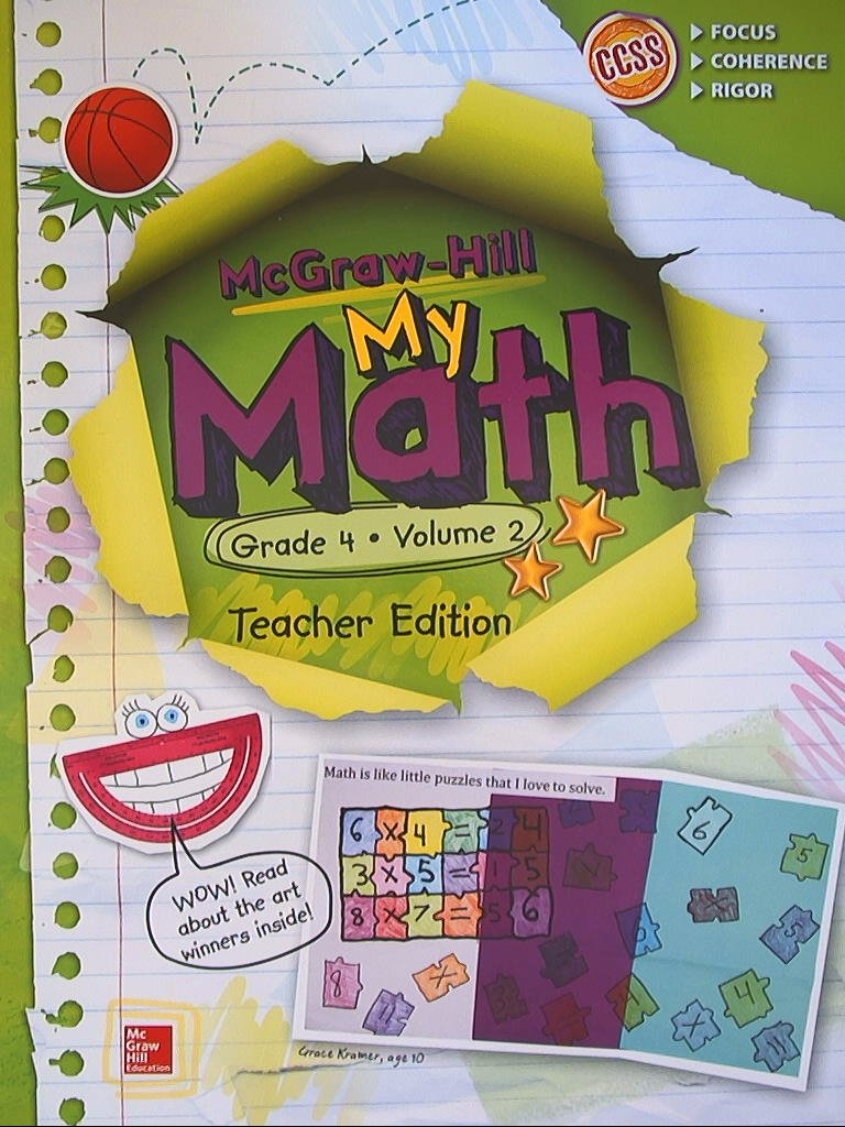 Amazon.com: McGraw-Hill My Math, Grade 4 Volume 2, Teacher Edition ...