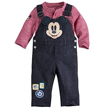 d928dbae7 Image Unavailable. Image not available for. Color: Disney Mickey Mouse  Dungaree Set Baby 9-12 Months