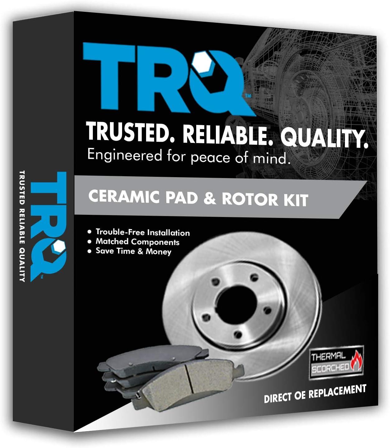 For BMW E53 X5 00-06 4.4L Front Brake Kit w// Rotors Ceramic Pads /& Sensor