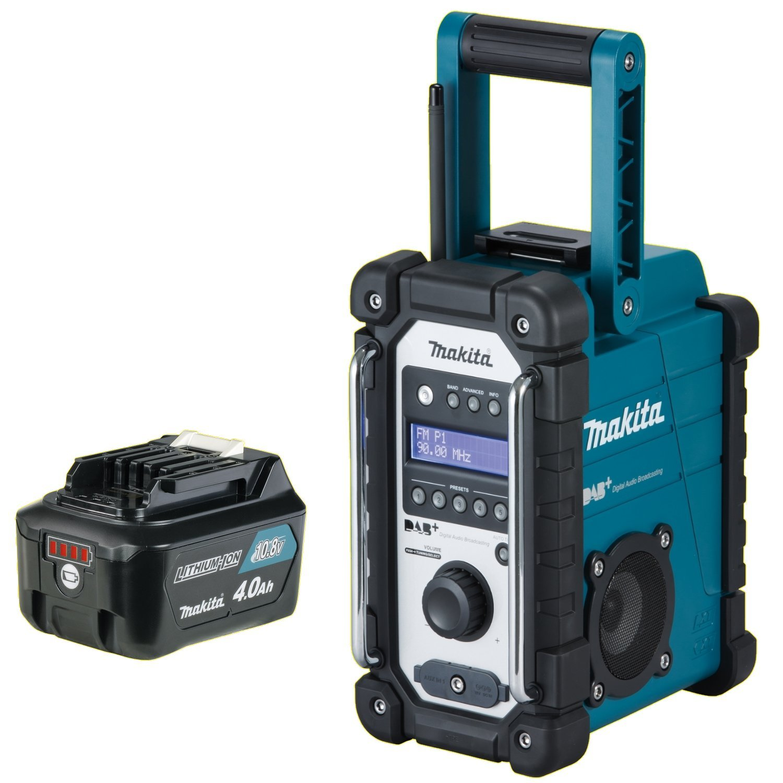 1x Akku 10,8 Volt 4,0 Ah Digital Audio Radio DMR110 7,2-18 V MAKITA Akku-Baustellenradio DMR 110 DAB//DAB