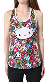 580049ec3 Amazon.com: Rhinestone Hello Kitty Solid Tank Top Shirt Black Size ...