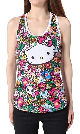 7d0070585c06a Amazon.com  Tokidoki x Hello Kitty Floral Friends Racerback Tank ...