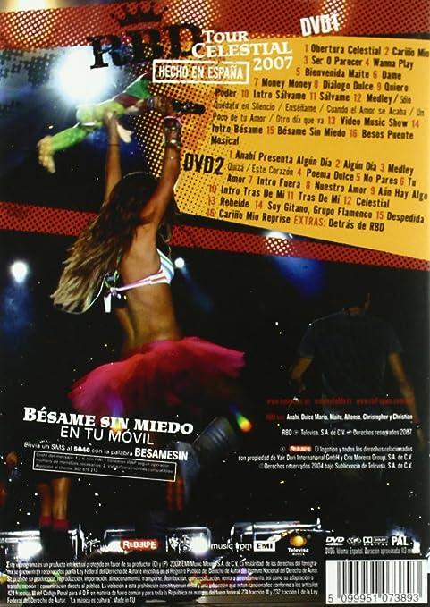 Tour Celestial 2007-Hecho en E [DVD]: Amazon.es: Rbd: Cine y Series TV