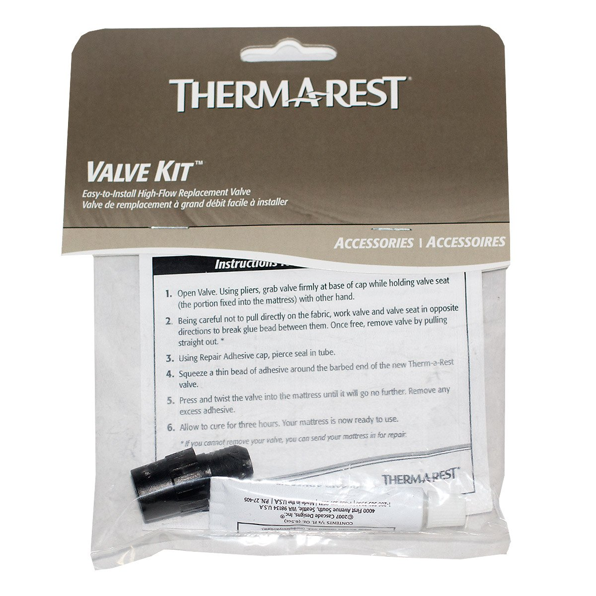 Amazon.com : Thermarest 2011 Valve Repair Kit : Self Inflating Sleeping  Pads : Sports & Outdoors