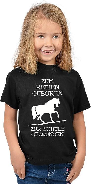 PFERDE T-SHIRT REITEN PFERD FOHLEN STRAß SCHWARZ 95/% BAUMWOLLE 146 152 158 164