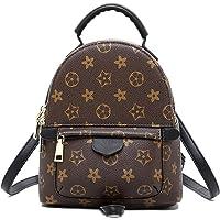 Herossy Designer Mini Leather Backpack Purse for Women, Fashion Small Shoulder Purse Handbag (small, coffee)