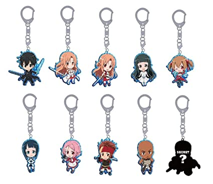 Amazon.com: Sword Art Online Puchi ~ tsu Hija metal Llavero ...