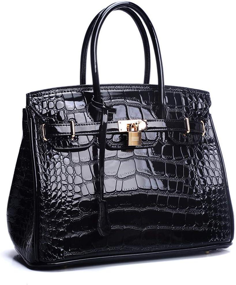ChenYongPing-Bsg Bolso de Las Mujeres Platinum Bag Messenger Bolso Europa America Fashion Shoulder Tote Party Bolsos de Moda (Color : Negro)