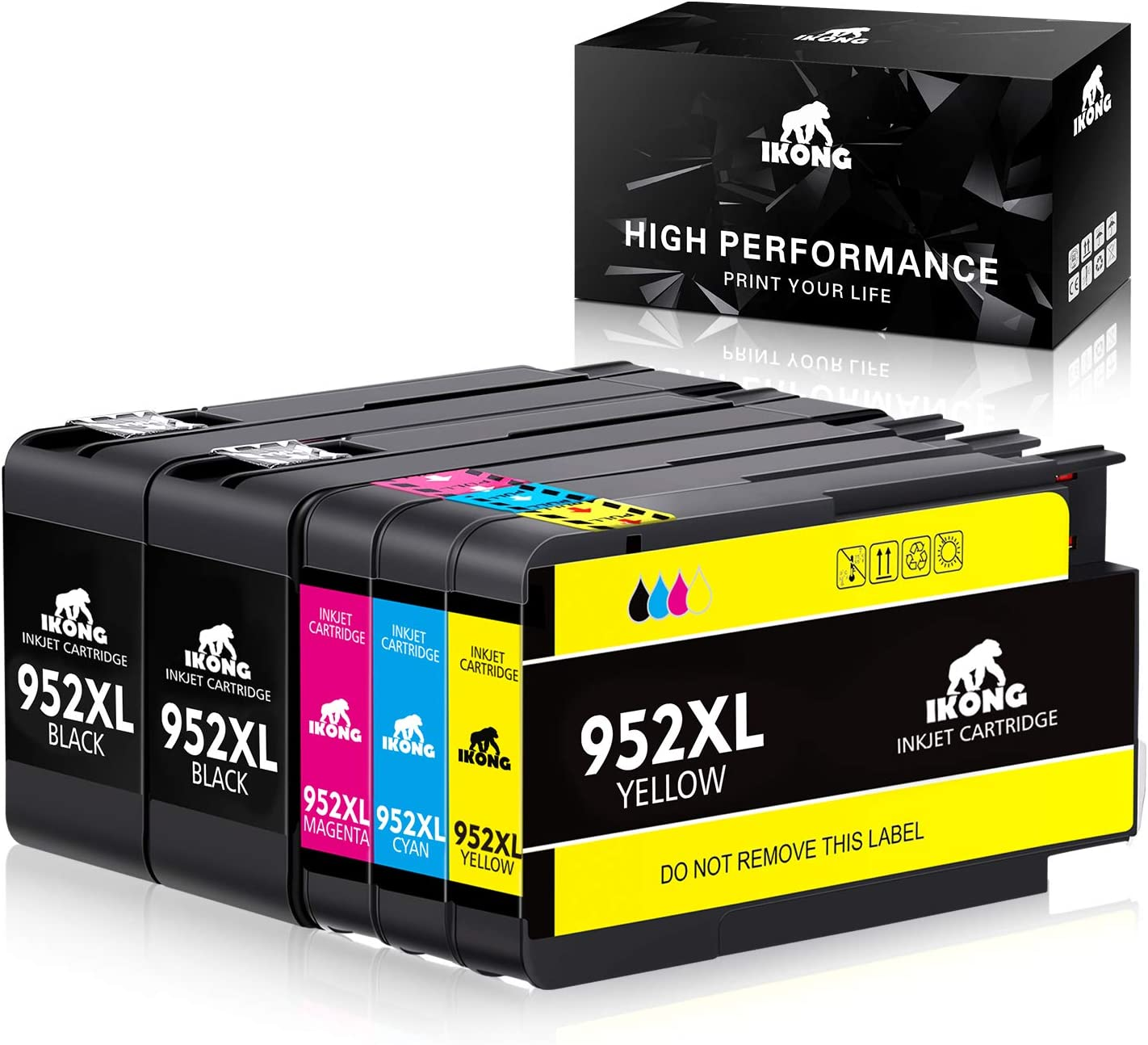IKONG Compatible Ink Cartridge Replacement for HP 952XL 952 XL Use with OfficeJet Pro 8710 8720 8740 8730 7740 8210 8715 8216 8725 8702 Printer 5-Pack