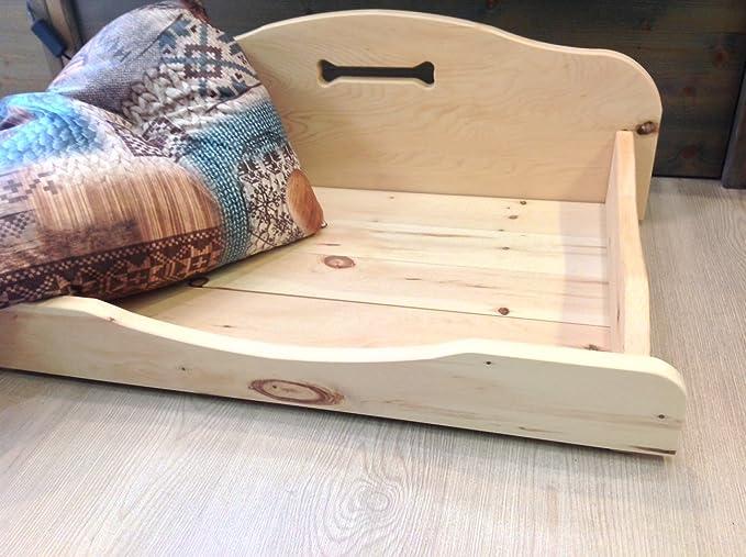Caseta para perro en piedra natural madera de pino (410 x 650 mm, pequeñas). Sin barnices, sin partes metálicas. Totalmente de enclavamiento.