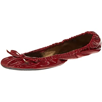 Alora Patent Foldable Flats with Carrying Case, Red, X-Large: Toys & Games