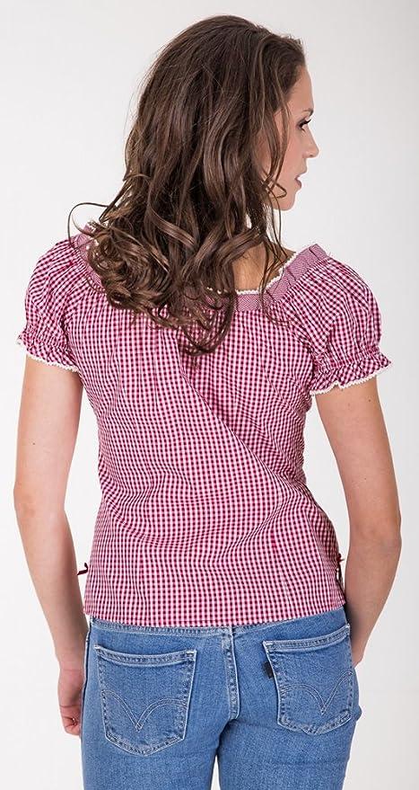 8f8e223f02ac Krüger Dirndl - Camicia - A Quadri - Manica Corta - Donna  Amazon.it   Abbigliamento