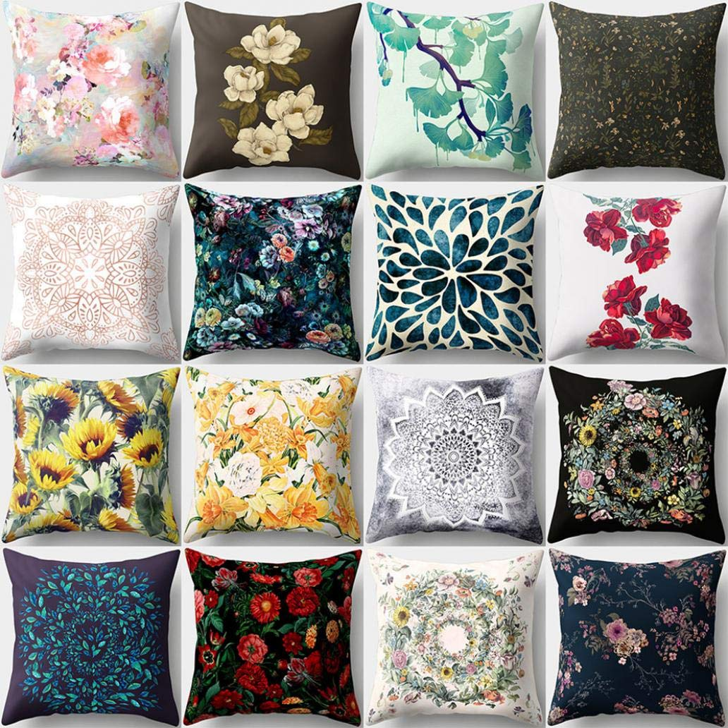 Ameesi Flower Throw Pillow Cov...