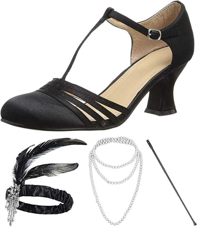 Deadstock Black Leather Straps with Original Box 1920s Flats Vintage 1920s Shoes Great Gatsby Flapper Mary Jane shoes Size 5 US
