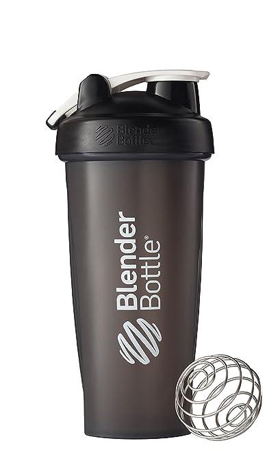 BlenderBottle Classic Loop Top Shaker Bottle, 28-Ounce, Black/Black