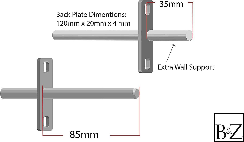 B/&Z Soportes de Soporte para Estante Flotante Oculto par BackRod 35mm 85mm