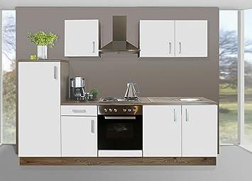 Küchenzeile mit geräten  Amazon.de: HTI-Living Küchenblock mit Kochplatten Meike Küchenzeile ...