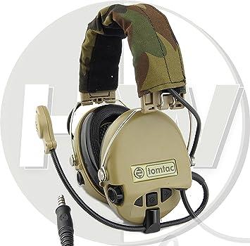 7f21b4ca5f8 AIRSOFT TOMTAC SORDIN HEADSET MIC BOOM RADIO MSA DESIGN WOODLAND TAN ...