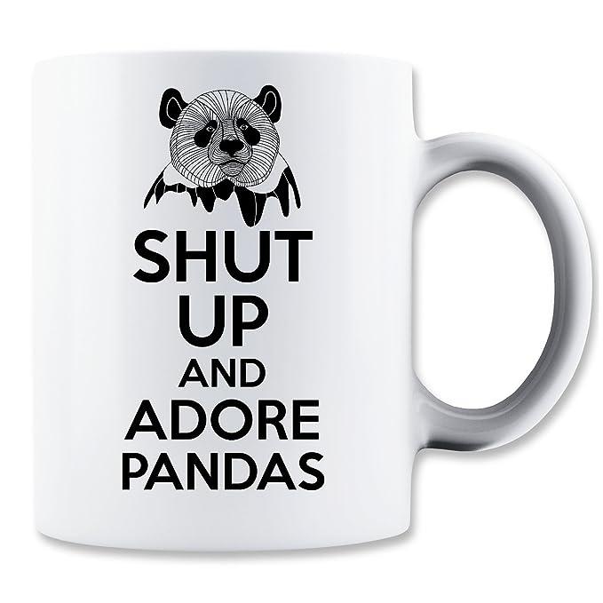 Shut Up Adore Pandas Taza para Café y Té: Amazon.es: Hogar