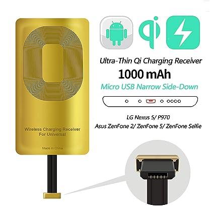Amazon.com: AmyZone - Receptor QI rápido ultrafino de 5 W ...