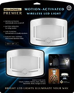 cfefc130cdd2 Bell + Howell 2090 Premier Motion Activated Wireless Led Light – Set of 2,  Stainless