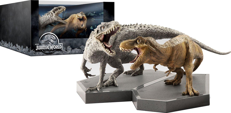 Jurassic World Limited Edition Giftset Includes 2 Prime 1 Studio Tyrannosaurus Rex Park 1993 15 Collectible Dinosaurs Blu Ray 3d Uv Copy Chris Pratt Bryce Dallas Howard