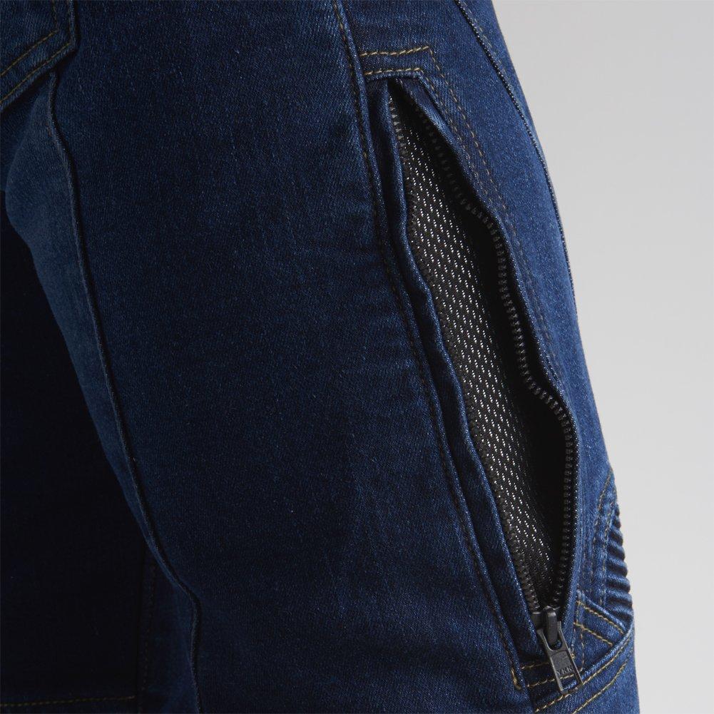 Maxler Jean bicicletta da uomo da moto Kevlar jeans 1601/blu