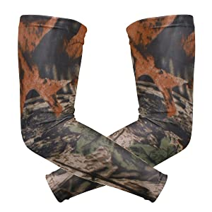 ALAZA Camo Tree Cooling Arm Sleeves Cover Uv Sun Protection for Men Women Running Golf Cycling Arm Warmer Sleeves 1 Pair