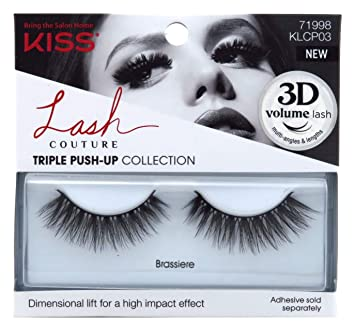 8f6b32ac83a Amazon.com: Kiss Lash Couture Triple Push-Up Brassiere (3 Pack): Beauty
