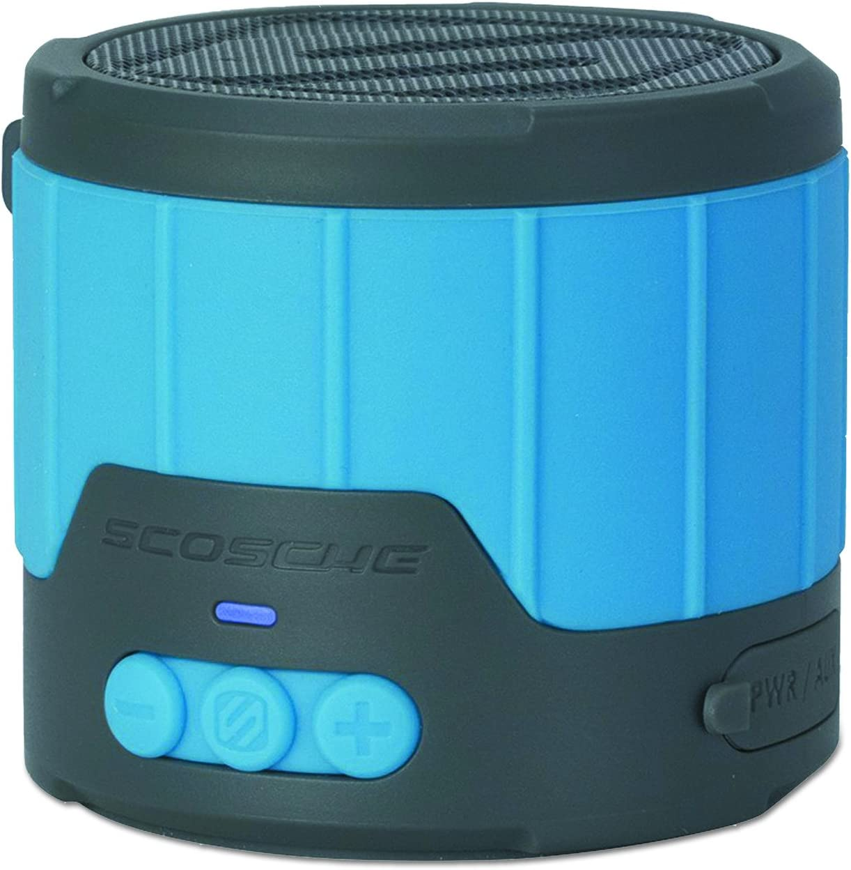 Blue Scosche BTBTLMBL Mini Rugged Weatherproof Wireless Bluetooth Portable Speaker
