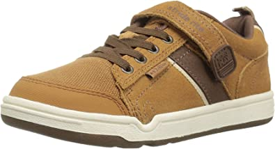 Stride Right Made To Play Brown And Orange Leather Toddler Shoes ~ Boys' Size 5